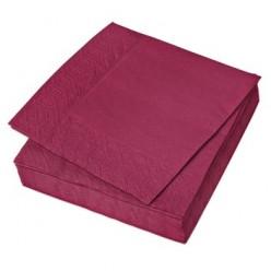 Салфетки столовые, 24 х 24 см, 2-сл., цветные (жёлтые зелёные, синие, красные, бордовые, оранжевые)