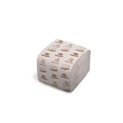 Туалетная бумага в листах, 1 слоя, серая