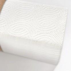Лист полотенца Z 2 слоя, белые. (аналог Торк Интерфолд)., целлюлоза, 17 гр*2