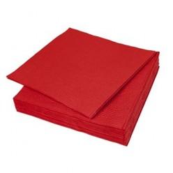 Салфетки столовые, 24 х 24 см, 1-сл., цветные (жёлтые зелёные, синие, оранжевые, красные, бордовые)целлюлоза, 400 листов