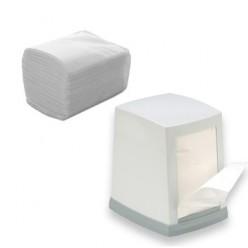 Диспенсерные салфетки, белые, 1-сл., 200 шт/пачка