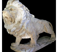 Лев, травертин