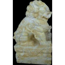 Лев азиатский желтый, мрамор
