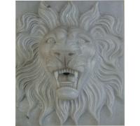 Маска льва, мрамор