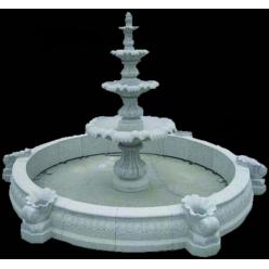 Борта фонтана с ракушками, Гранит