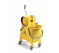 TTS Ведро Witty желтое 30 л, со сливным отверстием, диаметр колес 80 мм.