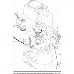 Вакуумный мотор для Cleanfix RA 431, 501B