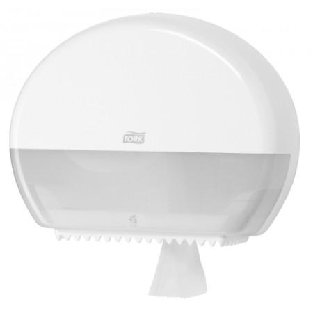 Tork Диспенсер белый для туалетной бумаги Tork в мини рулонах 555000