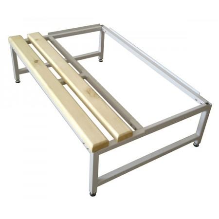Скамья Для раздевалок с деревянным сидением ООО «КМК ЗАВОД» Подставка к шкафу - 600