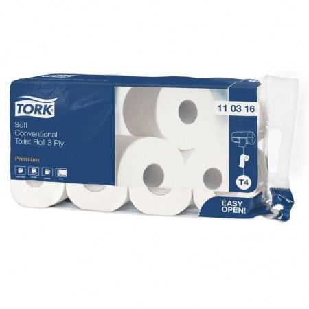 Tork Туалетная бумага в стандартных рулончиках ультра мягкая