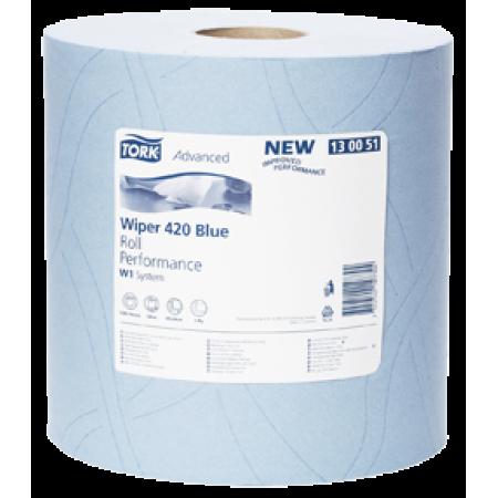 Tork Протирочная бумага в рулоне голубая (W1)