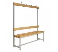 Скамья Для раздевалок с деревянным сидением ООО «КМК ЗАВОД» СК-1В-1500