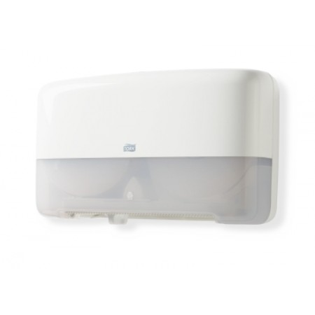 Tork Диспенсер Tork для туалетной бумаги в мини рулонах двойной белого цвета 555500