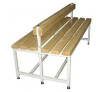 Скамья Для раздевалок с деревянным сидением ООО «КМК ЗАВОД» CК-2C-1500