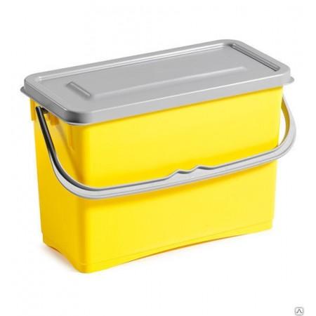 TTS Пластиковое ведро Hermetic 8 л желтое