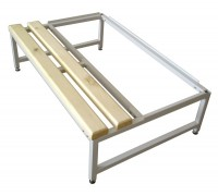 Скамья Для раздевалок с деревянным сидением ООО «КМК ЗАВОД» Подставка к шкафу - 1200