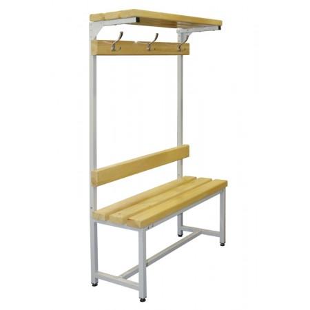 Скамья Для раздевалок с деревянным сидением ООО «КМК ЗАВОД» CК-1В-1000Ш