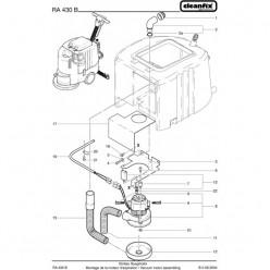 Вакуумный мотор для Cleanfix RA 430 B