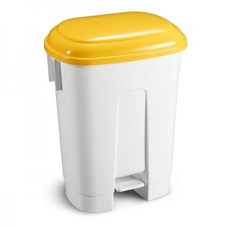 TTS Ведро мусорное Derby, с желтой крышкой, 60 л.