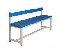 Скамья Для раздевалок с сидением из пластиковых досок ООО «КМК ЗАВОД» СКП-1С-1500