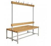 Скамья Для раздевалок с деревянным сидением ООО «КМК ЗАВОД» CК-2В-1500