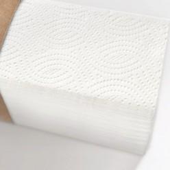 Листовые полотенца Z 2 слоя (белые) в эко-упаковке, целлюлоза. 17 гр*2