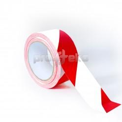 Односторонняя разметочная сигнальная маркировочная клейкая лента (PL-179) красно-белая